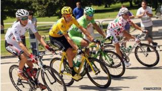Cyclists at the Tour de France