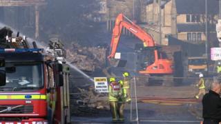 Demolition under way