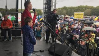 Finlay Pringle with Chris Packham