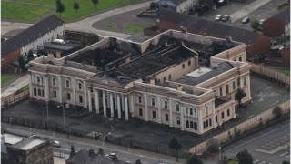 Damage was caused to the roof of the courthouse in 2009 after two separate fires over one weekend