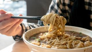 Traditional soy sauce wonton noodles