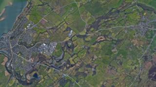 A map of Llanrug