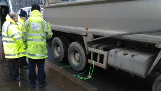 Vehicle being detained by the Driver & Vehicle Standards Agency