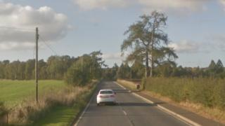 A923 between Coupar Angus and Blairgowrie