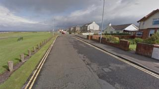 The car crashed into a wall after a high-speed pursuit through Troon