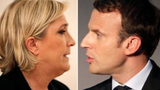 Le Pen y Macron