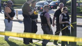 Policija na mestu pucnjave u gradiću Anapolis u Merilendu