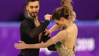 French figure skating team, Gabriella Papadakis and Guillaume Cizeron