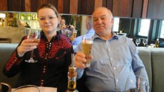 Sergei e a filha Yulia