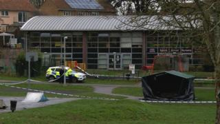 Police cordon in Lyngford Park