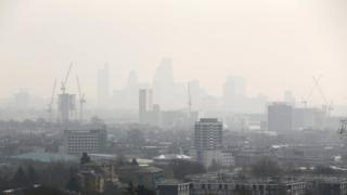 pollution london skyline