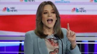 Marianne Williamson during a debate