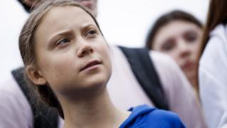 Greta Thunberg, the 16 year old climate change activist from Sweden, participates in a School Strike for Climate reform on the Ellipse near the White House in Washington, DC, USA, 13 September 2019