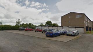 Car park in Cropthorne Avenue in Leicester
