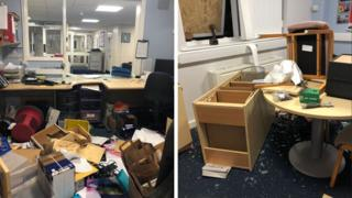 Damage at Dringhouses Primary School
