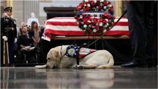 Sully visits Bush coffin at US Capitol