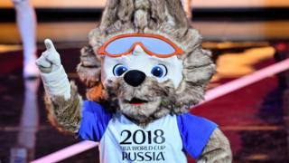 The World Cup 2018 mascot