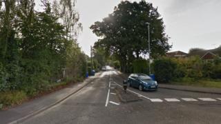 Gally Hill Road, Church Crookham, near Fleet