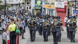RAF Honington personnel march through Thetford