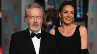 Sir Ridley Scott and Giannina Facio at the 2016 Bafta Awards