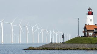 Hollanda'da rüzgar çiftlikleri