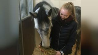 Penny the pony with owner Jasmine Price