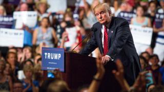 Donald Trump en campaña.