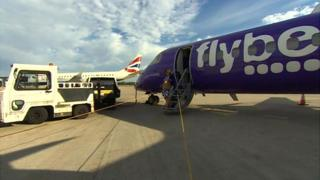 FlyBe aircraft before leaving Cardiff