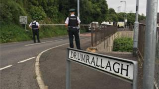 The security alert is beside the Drumrallagh housing estate