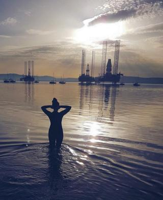 Woman in the Cromarty Firth