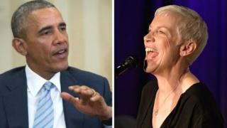 Barack Obama and Annie Lennox