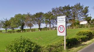 The village of Killea is right on the border with Londonderry