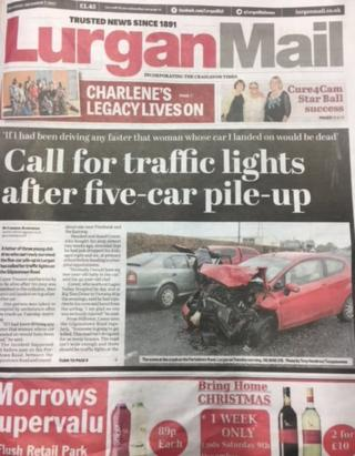 Lurgan Mail front page