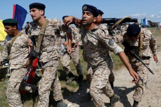 Marines from Iran take part in the International Army Games 2019 at the Khmelevka firing ground on the Baltic Sea coast in Kaliningrad Region, Russia August 5, 2019