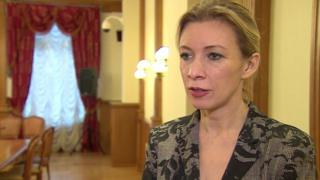 Russian Foreign Ministry spokesperson Maria Zakharova - pictured during an interview with the BBC in November 2015