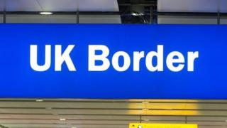 The UK border.
