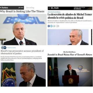 Manchetes de jornais sobre delações da JBS