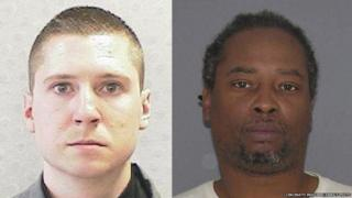 Composite photo of Tensing and DuBose