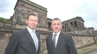 William Gray Muir, chairman of the Trust, and Dr Kenneth Taylor, headteacher of St Mary's Music School