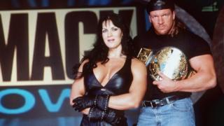 Chyna and Triple H in 1999