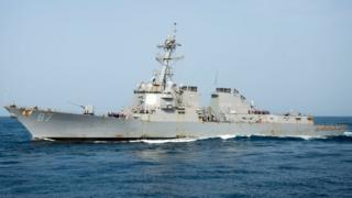 A file image released by the US Navy shows USS Mason (DDG 87) at sea on 3 August 2016