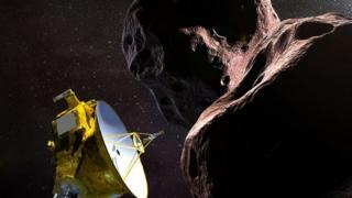 Ilustração: New Horizons e Ultima Thule