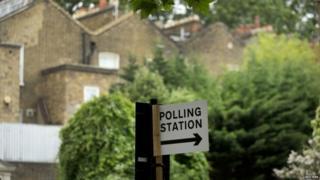 ロンドンの投票所