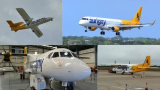 Aurigny's fleet currently compromises four different planes