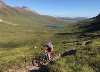Biking around the Torridon mountain biking circuit
