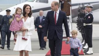 William and Catherine with their two children