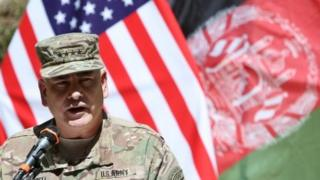 Commander of the International Security Assistance Force (Isaf), Gen John Campbell in Kabul (11 September 2015)