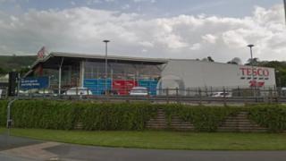 Tesco store, Newtown, Powys