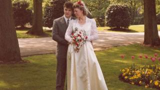 Carole Ann Denby and her husband Howard on their wedding day