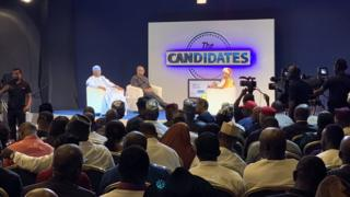 Atiku Abubakar and Peter Obi dey ansa qweshion for The Candidates Town hall meeting